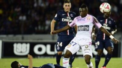 EL PSG no pudo superar al Evian y se quedó sin goles.