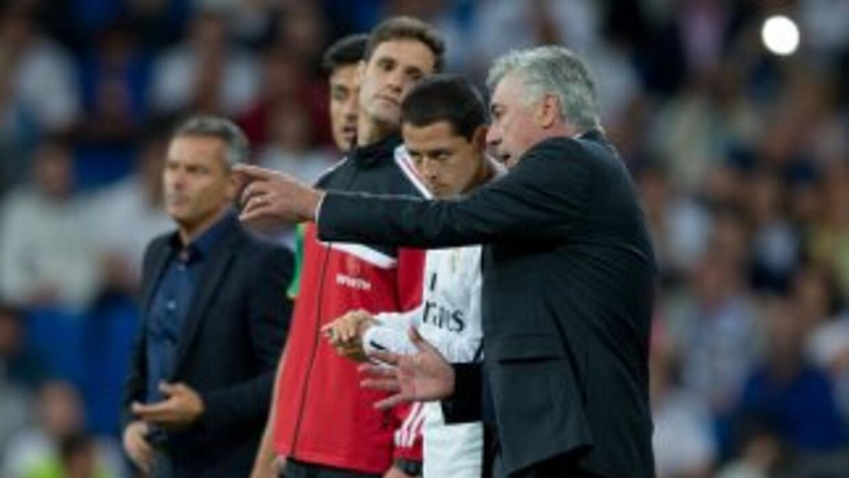 Ancelotti quiere a Chicharito en su papel de suplente.