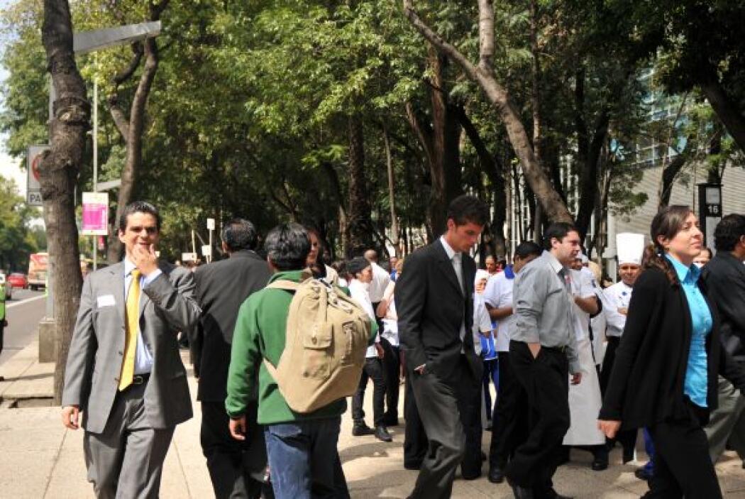 Las autoridades capitalinas dieron por concluido el Macrosimulacro 2010...