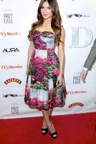 Alejandra Espinoza se decantó por las flores, un 'print0' muy 'ad...