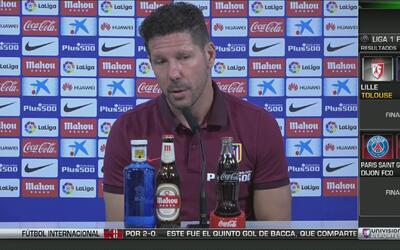 Simeone elogió al Barcelona pero se encargó de recordarles la eliminació...