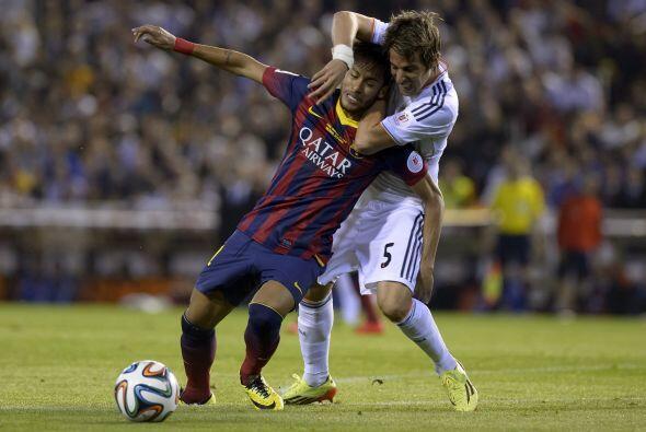 Barcelona no encontraba espacios ni facilidad alguna para superar la l&i...