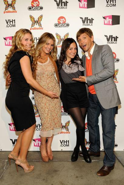 Con sus grandes amigos en un evento de VH1.