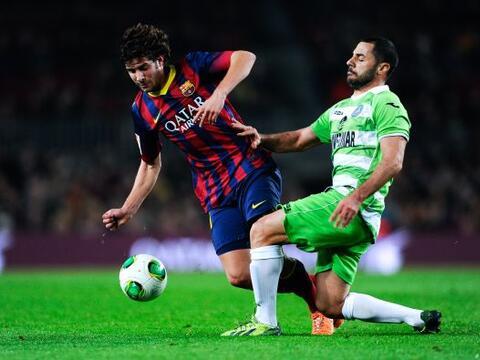 Barcelona hacía su aparición en los octavos de final de la...