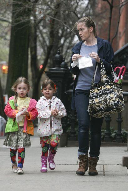 A menudo se ve a las pequeñas paseando por las calles de Nueva York, en...