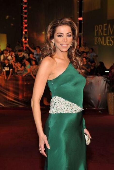 Lourdes Stephen lució muy sofisticada con ese corte de vestido.