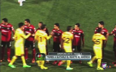 Tigres a quitarle el invicto al América en la Fecha 4 del Apertura 2014