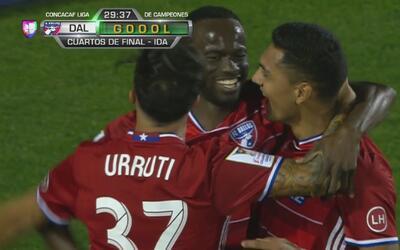 A pura velocidad, Cristian Colman hizo el 1-0 de FC Dallas ante Árabe Unido