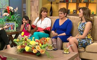 Alicia Machado y Maria Antonieta Collins presentaron a sus hijas