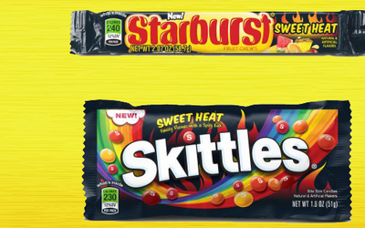 Candy giant Mars introduces two new flavors, Spicy Skittles and Starburs...