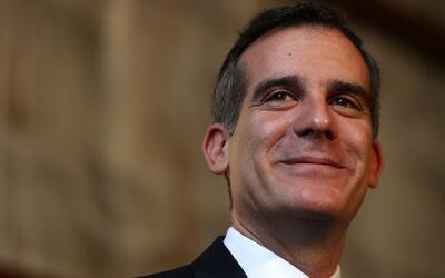 Eric Garcetti fue reelegido como alcalde de Los Ángeles con el 80.87 % d...