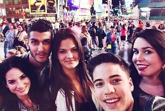 Las 'selfies' de William Valdes desde Nueva York