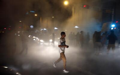 """Trump llamó """"bandidos"""" a los manifestantes de Albuquerque, Nuevo México."""