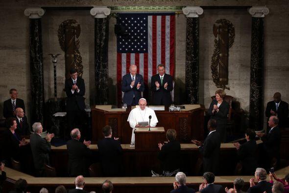 Francisco arrebató aplausos con su discurso.