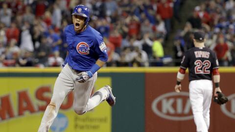 Addison Russell pegó el primer grand slam de los Cubs en una Seri...