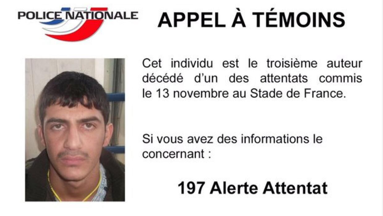 La imagen del tercer atacante difundida por Francia