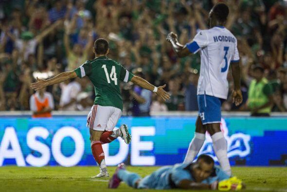 """Y con selección el """"Chicharito"""" se destapó como goleador ante Honduras e..."""