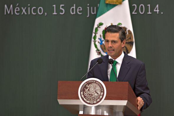 El Presidente de México, Enrique Peña Nieto, señaló que a la selección m...