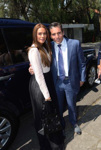 Galilea Montijo también llegó acompañada de su esposo.