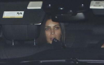 Kim Kardashian en el concierto de Kanye West