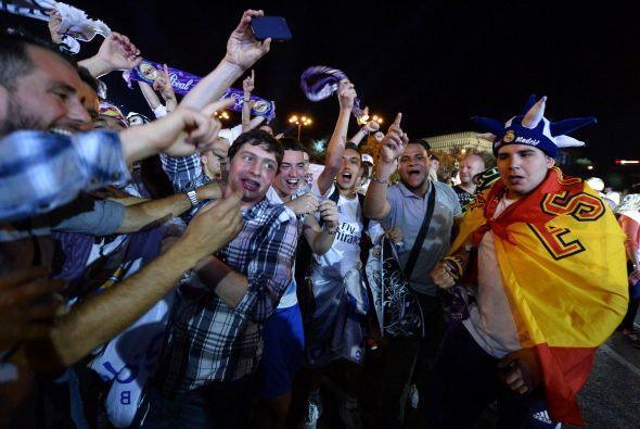 Fiesta en las calles de Madrid.