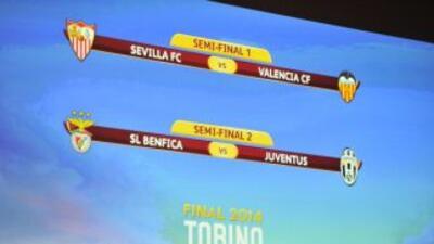 Así quedaron lasSemifinales de Liga Europa.