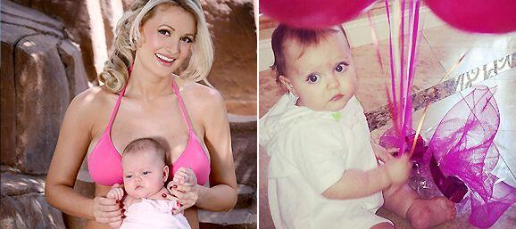 Holy!, Rainbow, la nena de Holly Madison celebró su primer añito y ha cr...