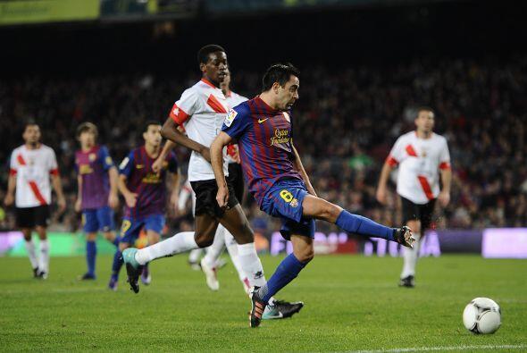 Pero los goles no paraban de llegar y Xavi se sumó a los romperredes.