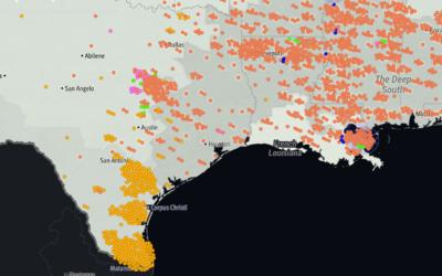 El mapa muestra no solo los linchamientos a afroestadounidenses (en nara...