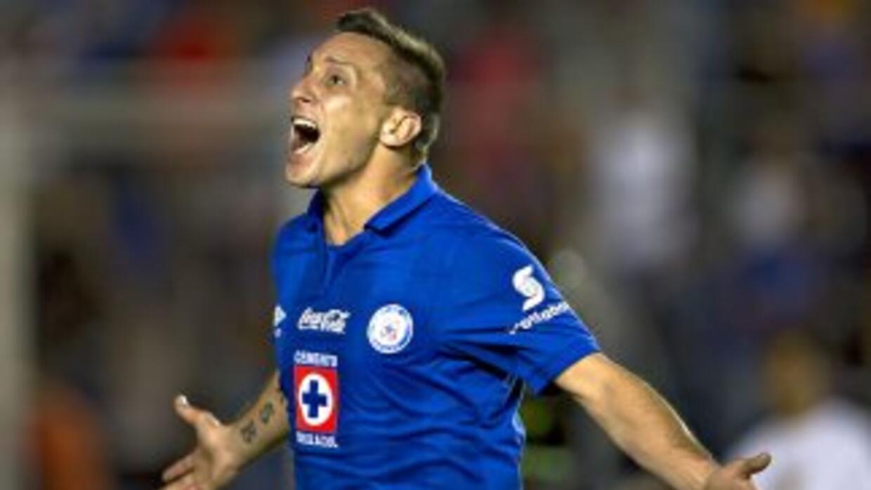 Chaco anotó en la goleada del Cruz Azul.
