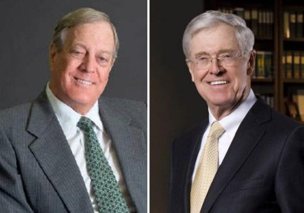 Charles Koch, CEO Koch Industries, y David Koch, Vice Presidente Ejecuti...