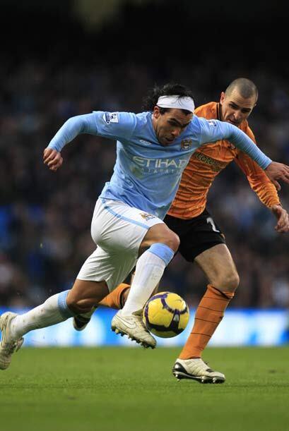 El Manchester City, con Carlos Tévez, recibió en casa al Hull.