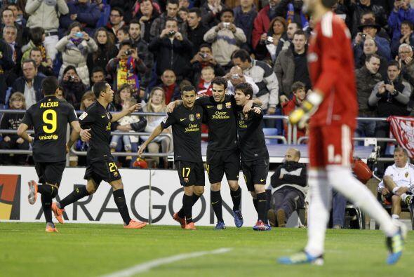 Ya con el 3 a 1 Barcelona respiraba, festejaba y hacía lo que se había p...