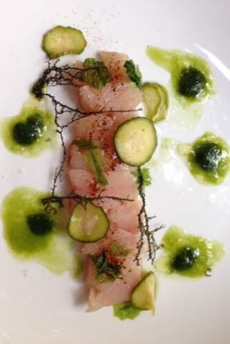 Jurel, pepino persa, algas y mastuerzo. Foto tomada de Twitter | Usuario...