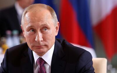 El presidente ruso Vladimir Putin durabte una reunión en Berl&iac...
