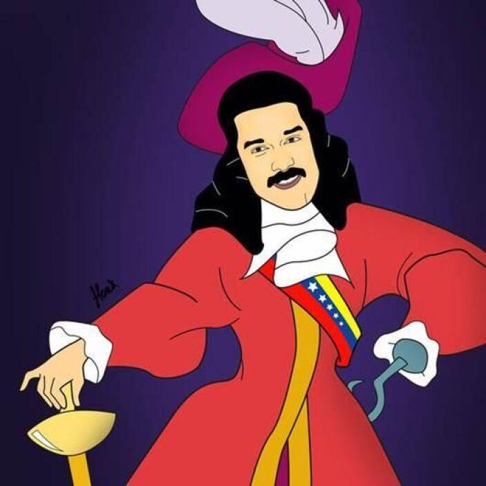 Aquí el presidente de Venezuela, Nicolás Maduro como el terrible Capitán...
