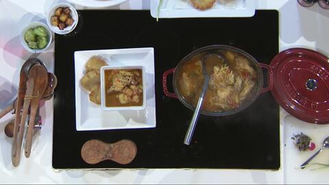 Receta de Sopas de Fideos y Pollo con sofrito Moro