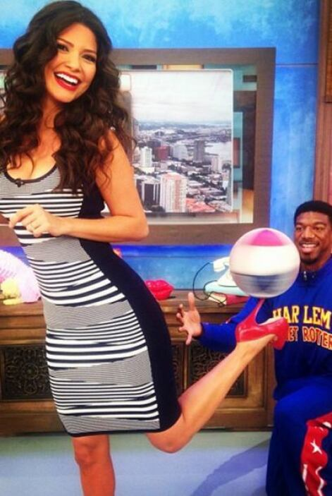 """Harlem Globettotter hacen malabares con mi tacón en @DespiertaAmericaTv..."