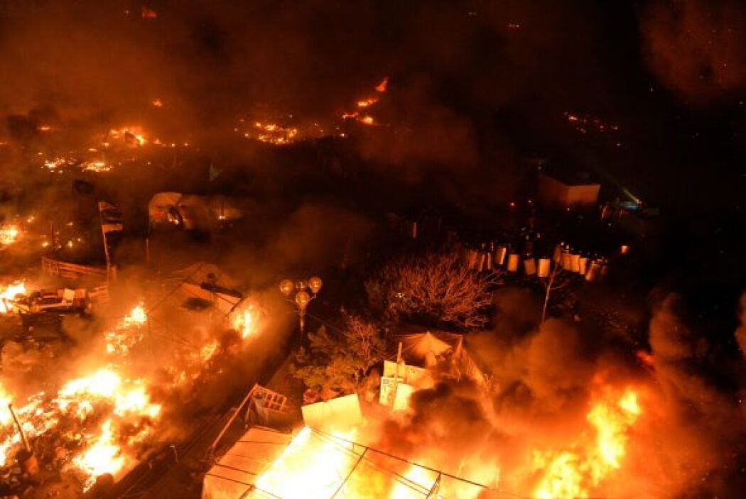 El centro de Kiev está, literalmente, en llamas.