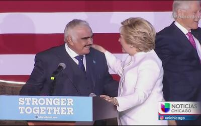 Encuentro entre Hillary Clinton y Vicente Fernández