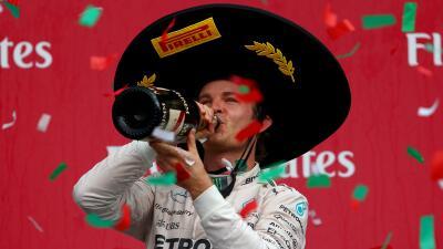 Rosberg ganó GP México, 'Checo' Pérez 8vo.