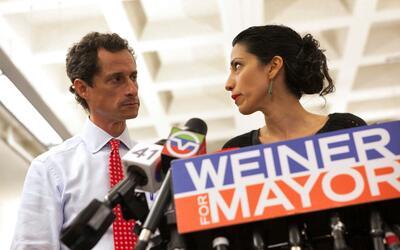 Abedin apoyó a Weiner cuando este trató de retomar su carera política po...