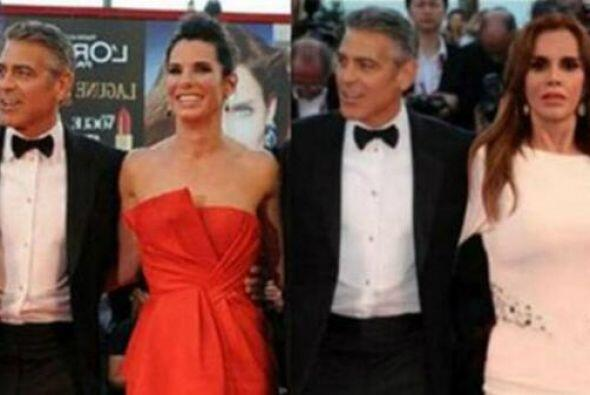 Era Lucía entre George Clooney y el director Alfonso Cuaró...