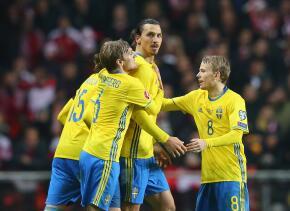 Ibrahimovic lleva a Suecia a la Euro 2016