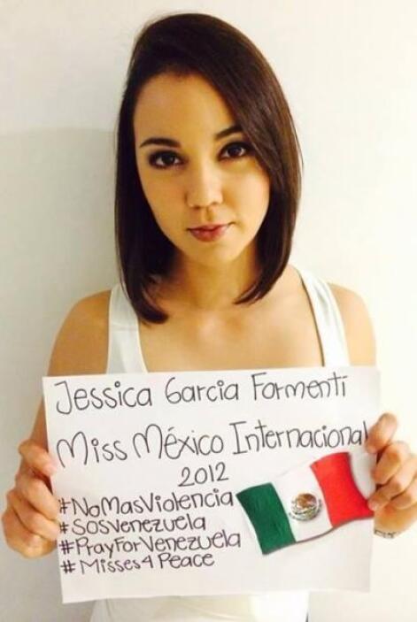 Jessica García Formenti, Miss México Internacional 2012, pide no más vio...