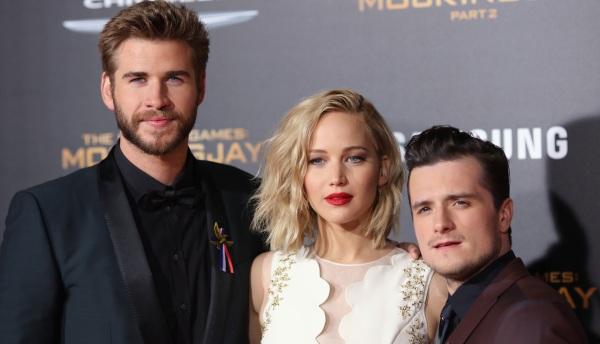 Liam Hemsworth, Jennifer Lawrence y Josh Hutcherson