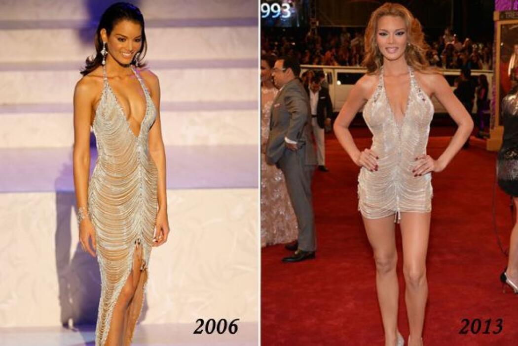 El vestido que hizo que se desmayara en 2006 -cuando ganó la corona- fue...