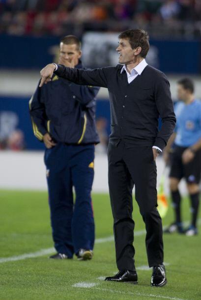 El entrenador Tito Vilanova metió presión a sus jugadores...