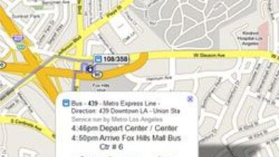 Google Maps despliega informacion de transporte publico en Los Angeles 3...