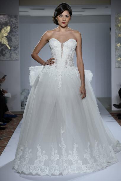 Por ejemplo, está el vestido de la novia soñadora. El cort...